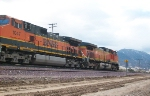 A BNSF train starting up the pass